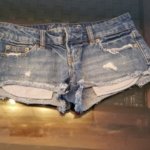 American Eagle Shorty jeans shorts size 0